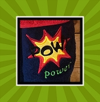 POW Power Splatter Applique Embroidery Design  includes 5 sizes for each fits hoops with 4X4, 5X5, 6X6, 7X7 and 8X8 stitch area (WW NOT INCLUDED)