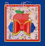 4 sizes included, In the hoop Apple Princess Bow Embroidery Designs, for 4X4, 5X7, 6X10 and 7X11