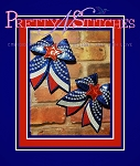 Set of 3 sizes, Patriotic Bow Embroidery Designs, for 5X7, 5X5. 7X7 and 6X10 hoops
