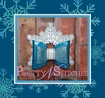 4 sizes included, Snowflake Princess Bow Embroidery Designs, for 4X4, 5X7, 6X10 and 7X11