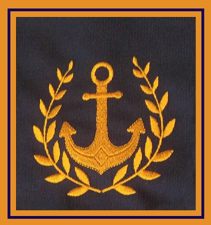 Anchor Embroidery Design includes 4 sizes, 1.75