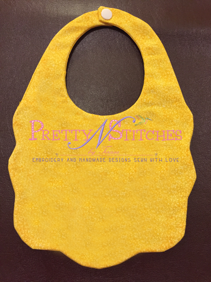 In the hoop Blank Baby Bib Embroidery Design includes 3 sizes 6X10, 7X10.75 and 7.5X11  Digital Download
