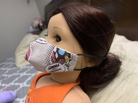 Doll Face Mask for 18