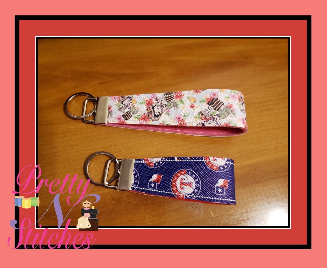 Wrist Key fob Strap In the Hoop Embroidery Design 1.15X7 , 1.15X8, 1.15X9, 1.15X10, and 1.15X11 fits 1.25 key fob hardware Zipper bag not included