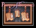 Set of 3 Rodeo Cowboy Boot _Sanitizer Keeper for 1 oz Bath and Body works, 2 oz Purell and 2.5 oz GermX in hoop sizes 4X4 and 5X7 (4X4 is 2 hoopings) with and without the word