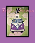 The Hoop Embroidery Designs VW Bus Key Fob for hoop size 4X4, 5X5 and 5X7
