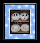 Set of 2 In the Hoop Snowball with face, Cheer and Sleet embroidery designs includes design size 2.09X3.9, 2.9X5.5 and 3.62X6.75 names not included