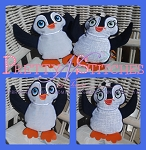 In the hoop Boy and Girl Happy Penguin Stuffie, for hoop size 5X7, 6X10 7X11 and 8X12