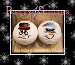 Set of 2 In the Hoop Snowball with face, Mr and Mrs Frosty embroidery designs includes design size 2.09X3.9, 2.9X5.5 and 3.62X6.75