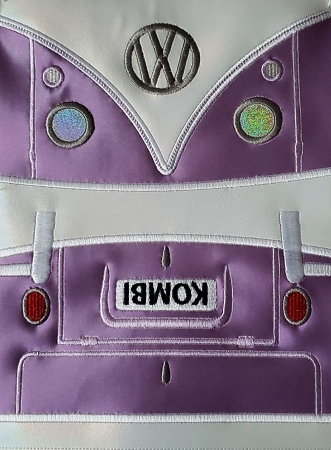 In The Hoop Embroidery Design, That 70's Bus Add on Cover for the 6X9 Split Clasp Wallet Design THIS IS AN ADD ON PLEASE SEE DESCRIPTION FOR REQUIRED DESIGN