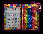 Rainbow Bingo Vertical Zipper Bag Embroidery Design 4X5.6, 5X7, 6X8.5, 7X11 and 8X11.5,  lined and non lined & Bonus zip pull