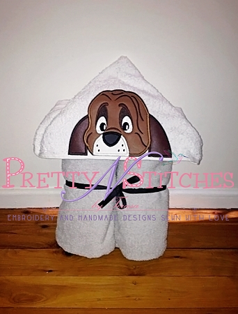 Hound Dog Applique Peeker Applique Embroidery Designs for 4X4 and 5X7 hoops