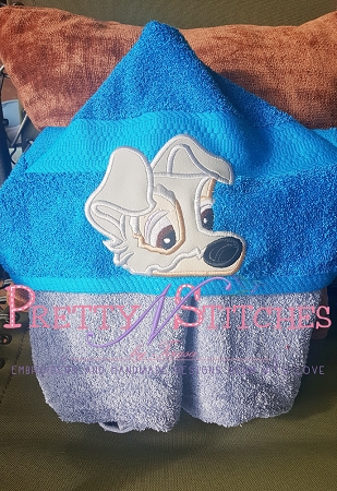 Scruffy Mutt Dog Applique Peeker Applique Embroidery Designs for 5X7 hoops