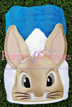 Rabbit Applique Peeker Applique Embroidery Designs for 4X4 and 5X7 hoops