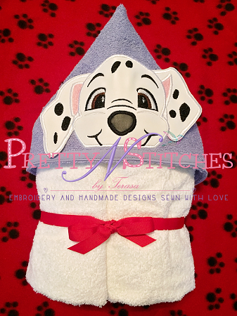 Dalmatian Puppy Peeker Applique Embroidery Designs, stitch area is 5X7 comes in 2D and 3D