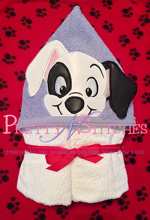 Black Eyed Dalmatian Puppy Peeker Applique Embroidery Designs, stitch area is 5X7 comes in 2D and 3D