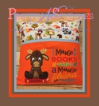 Boy Moose Read Pillow Embroidery Design  includes 5X7- 2 hoopings, 6X9, 7X10.5, and 8X12 - 1 hooping